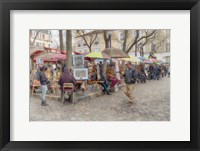 Framed Monmartre Artist Working On Place du Tertre IV