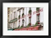 Framed Monmartre Restaurant