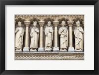 Framed Notre Dame Facade Details III