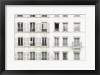 Framed Paris Apartement Building II