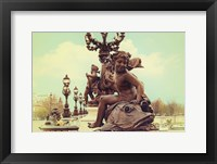Framed Sculptures On Pont Alexandre III