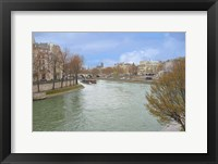 Framed Seine River In Paris Center