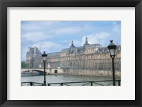 Framed Louvre Palace And Seine River