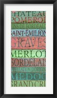 Framed Bordeaux Wines
