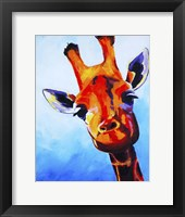 Framed Curious Giraffe