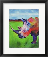 Framed Painted Rhino