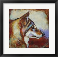 Framed Wolf Portrait