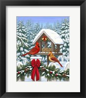 Framed Cardinals Christmas Feast
