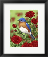 Framed State Birds And Flowers NY