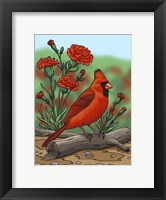 Framed State Birds And Flowers OH
