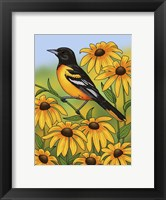 Framed State Birds And Flowers MD