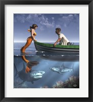 Framed Mermaid And Her Pets