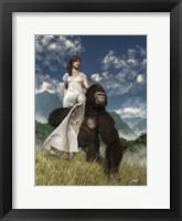 Framed Ape And Girl