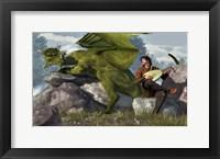 Framed Bard And Dragon