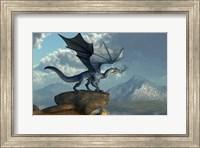 Framed Blue Dragon