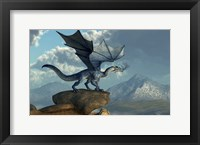 Framed Blue Dragon