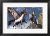 Framed Elf Summoning A Pegasus