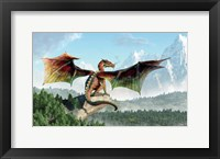 Framed Perched Dragon