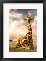 Framed Sitting Giraffe