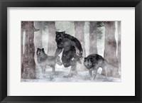 Framed Werewolf And Wolves