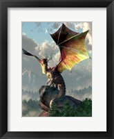 Framed Yellow Winged Dragon