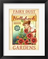 Framed Hollyhock Seeds