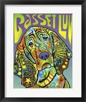 Framed Basset Luv