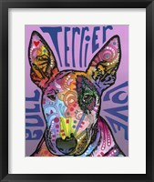 Framed Bull Terrier Love
