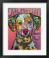 Framed Dalmatian Luv