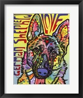 Framed German Shepherd Love