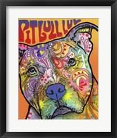 Framed Pit Bull Luv