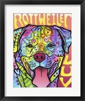 Framed Rottweiler  Luv