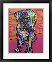 Framed Puppy Love