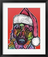 Framed Christmas Dog