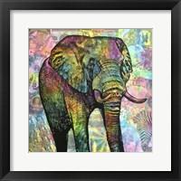 Framed Elephant Torn