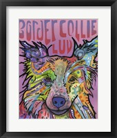 Framed Border Collie Luv 2
