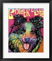 Framed Border Collie Love