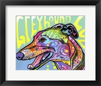 Framed Greyhound Luv