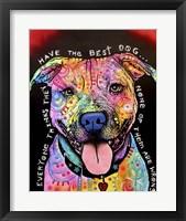 Framed Best Dog