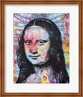 Framed Mona Lisa Pop 2