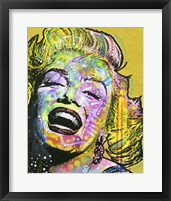 Framed Golden Marilyn