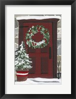 Framed Red Door