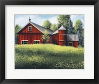 Framed Red Barn Summer 1