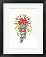 Framed Stocking Bouquet