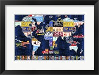 Framed World Map 2016 Augustine