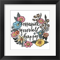 Framed Imagine Yourself Happy Color