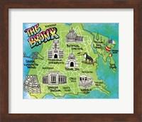 Framed Bronx Map