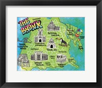 Framed Bronx Map