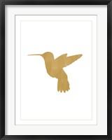 Framed Gold Hummingbird