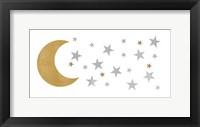 Framed Moon & Stars